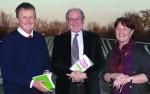 "Peadar Kirby, Tom Lodge and Mary Murphy at the launch of ""Towards a Second Republic'"