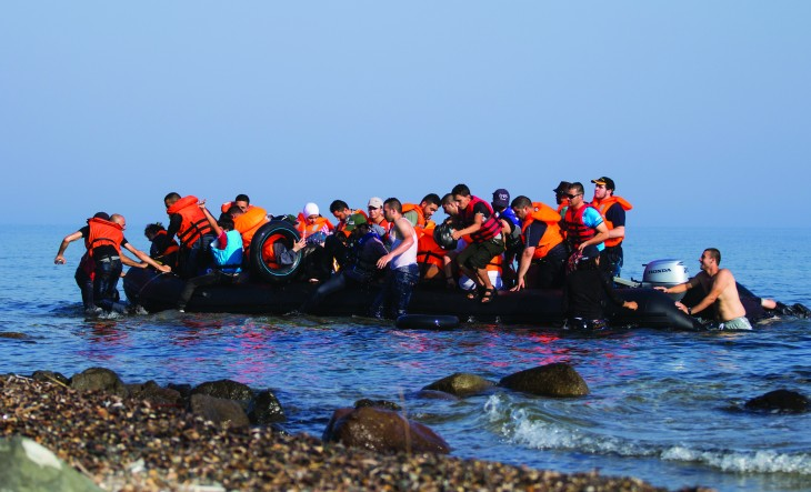 Arrival of 57 Syrians on Lesvos_Photo Johanna Kaprio