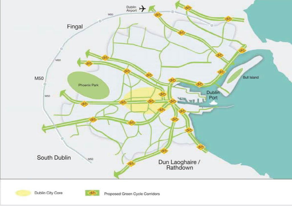 Proposed Dublin City Green Cycle Network