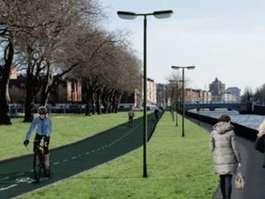 Proposed Liffey Cycle Route at Croppies Acre: aborted by lobbying