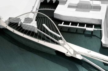 One of three proposed bridge designs by AECOM