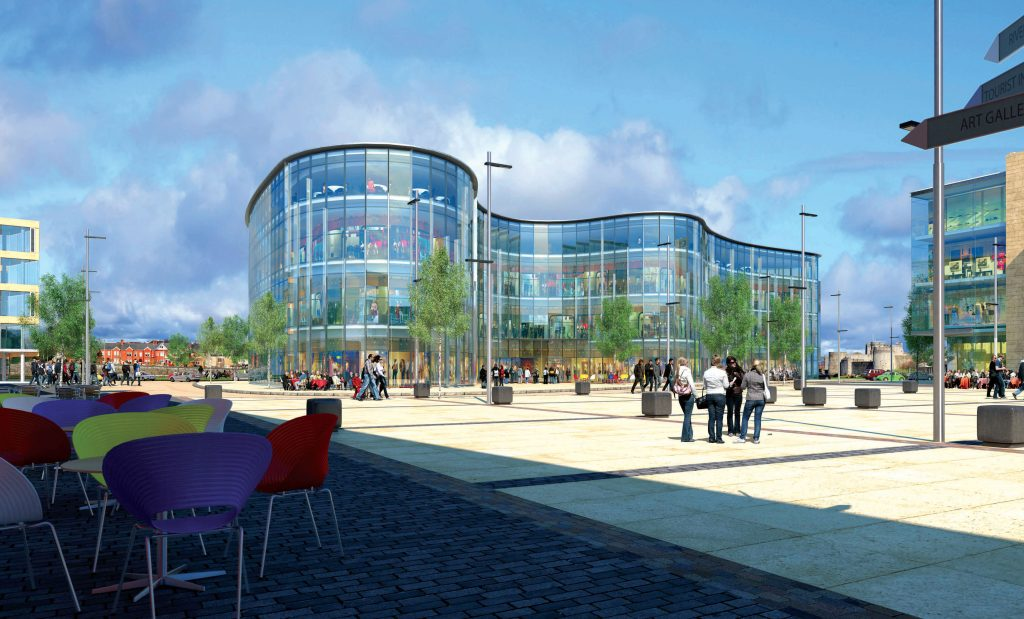 New square and retail space at Arthur's Quay - artist's impression